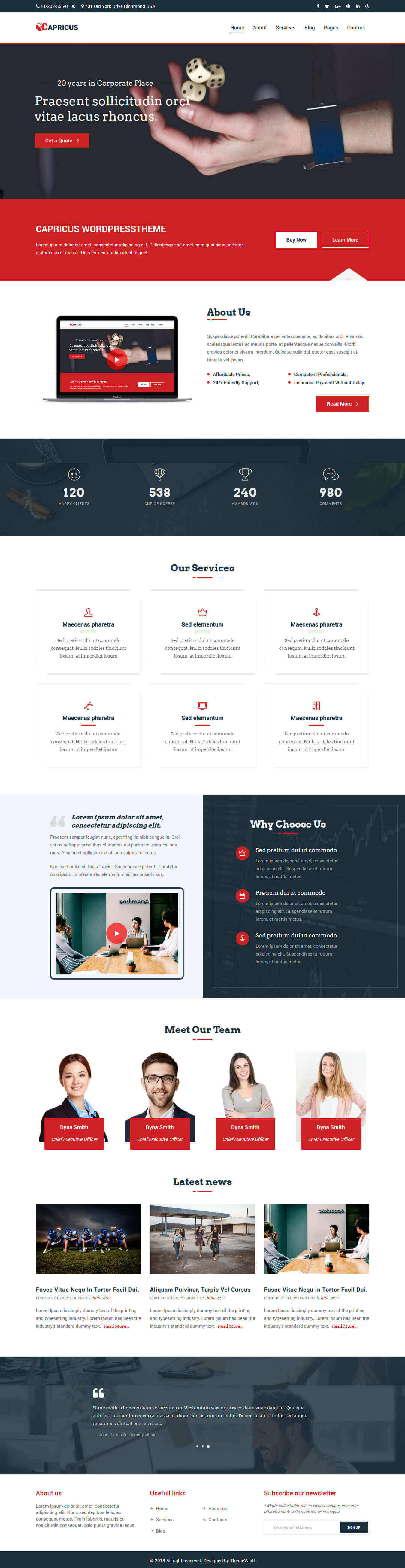 Capricus – HTML5 Professional Website Templates