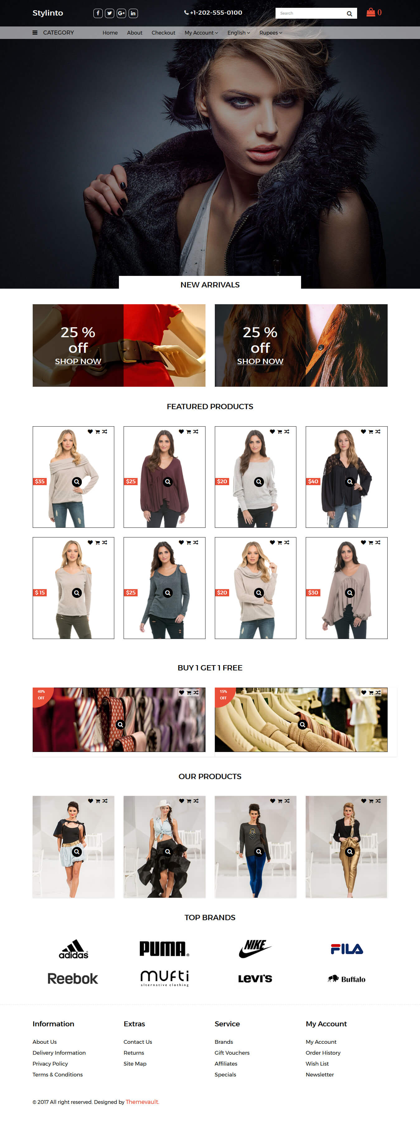 Stylinto – Free Fashion Store Ecommerce Website Template