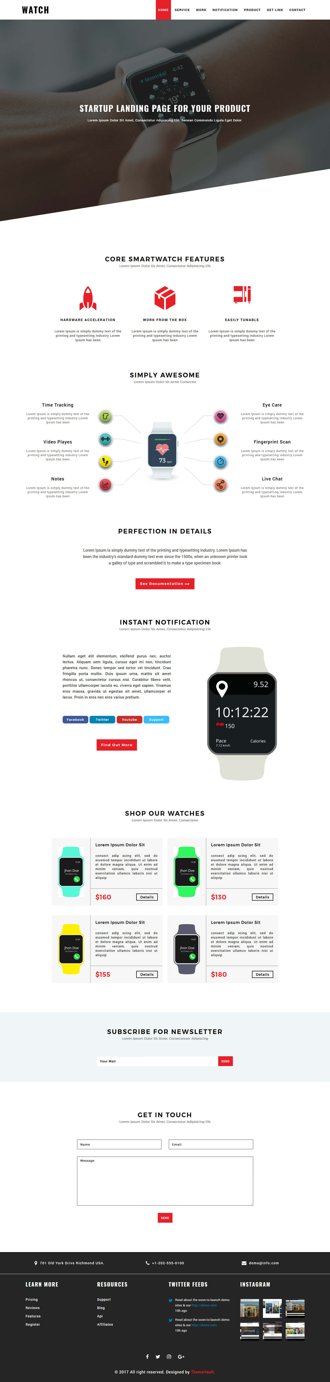 TimeLand - One Page Responsive HTML Website Template