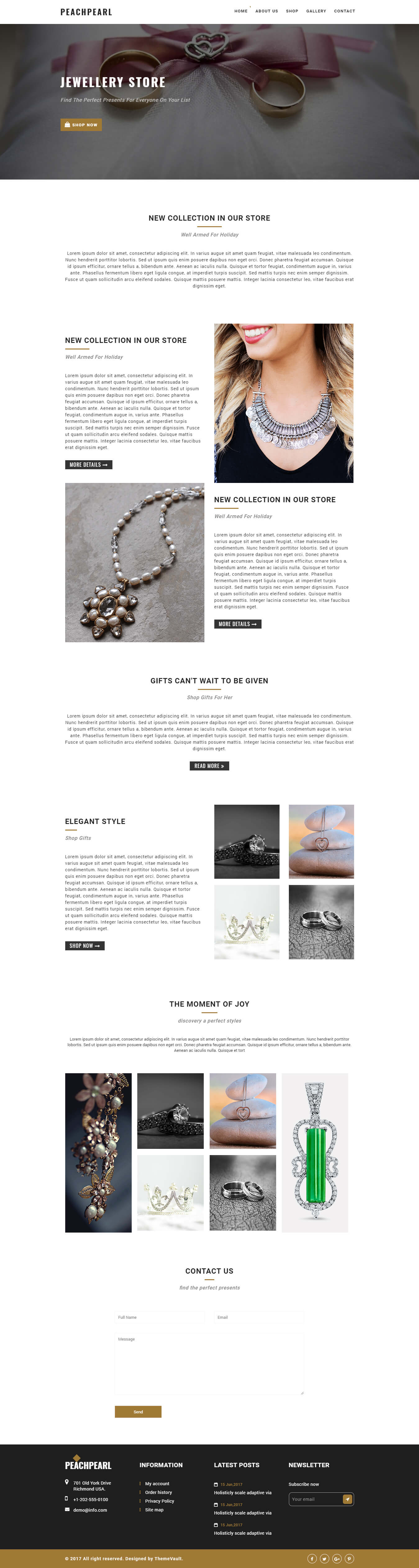 Peachpearl – Responsive Best Email Newsletter Templates | ThemeVault
