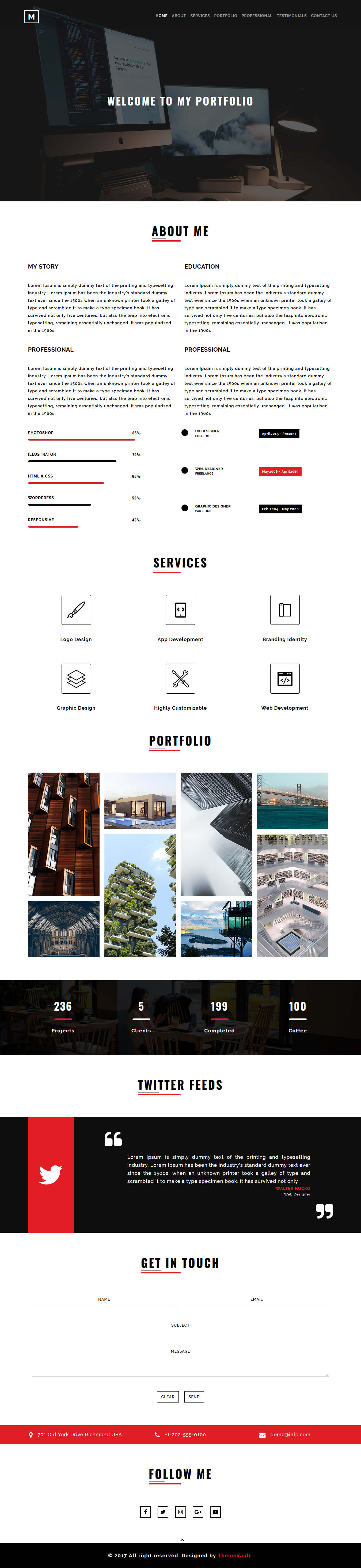Martin- Personal Responsive Website Template