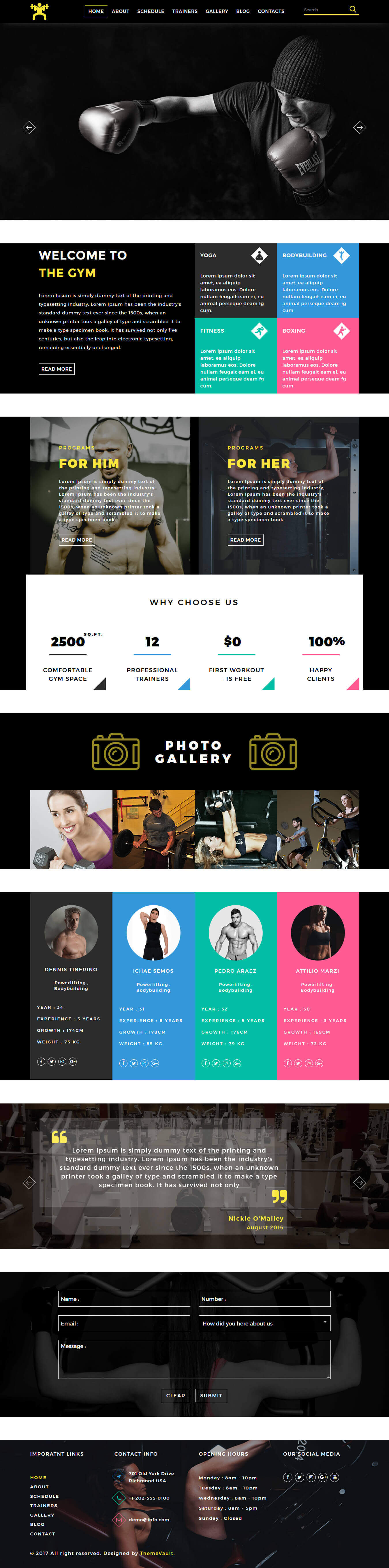 Gym-Fitcare - Health and Fitness Website Templates