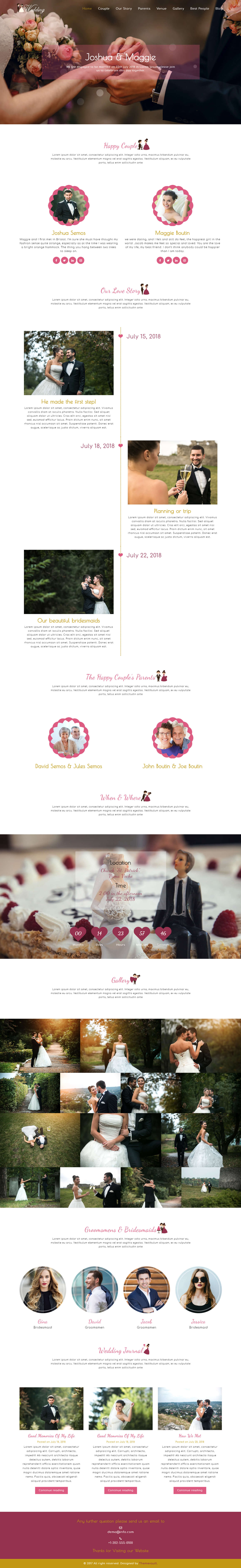WeWedding - Responsive Elegant Wedding Website Template