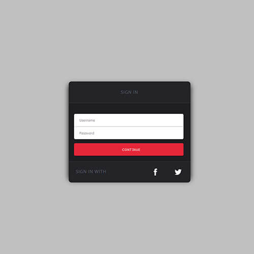 Free Responsive Simple Sign In Form Template
