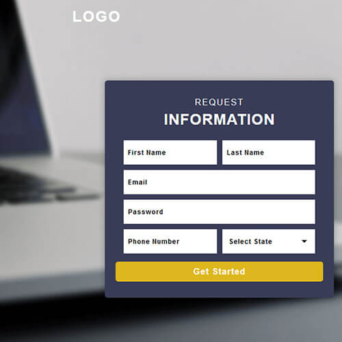 Responsive Basic Professional Sign Up Form Template