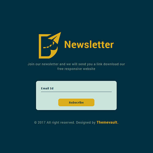 Free Modern Distinctive Subscribe Form Template