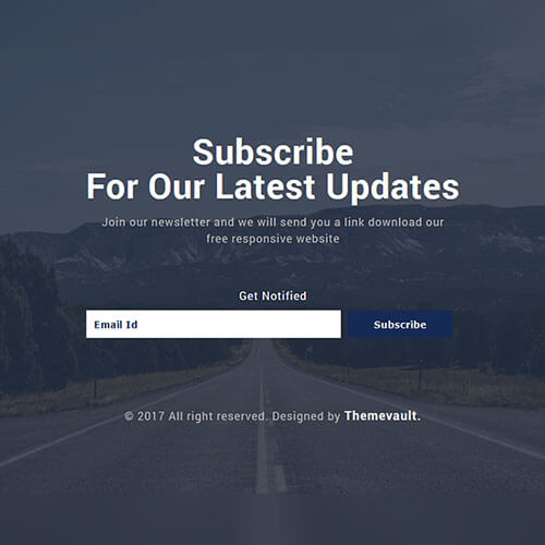 Unique Transparent Subscribe Form Free Template