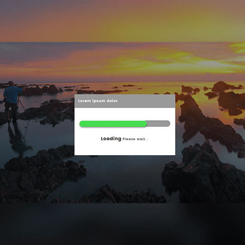 Yellow Design Free Progress Bar Widget Template