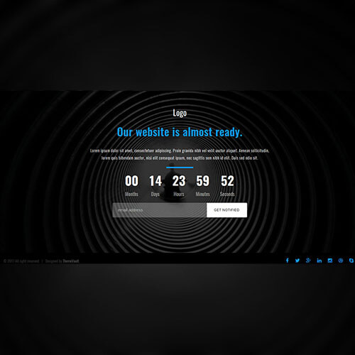 Responsive Launching Soon Page Free Widget Template