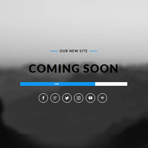 Utmost Coming Soon Free Responsive Widget Template