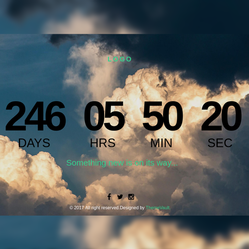 Free Weather Countdown Page Responsive Widget Template