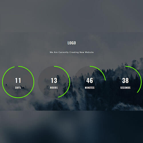 Responsive Forestry Counter Widget Template