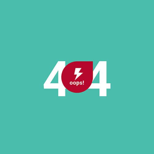 Creative Vibrant 404 Error Page Widget Template