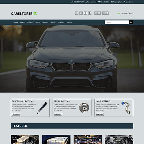 Carestorer – Responsive HTML5 Auto Parts Website Template