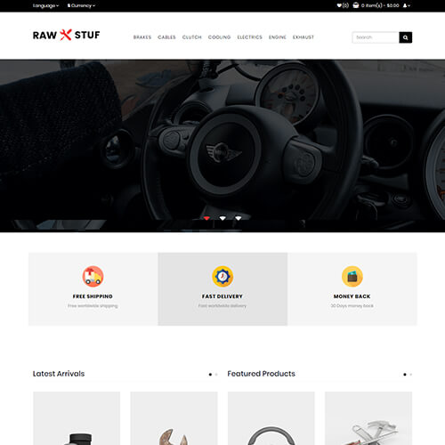 Rawstuf – Best HTML5 Auto Parts Website Template