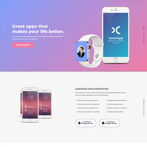 AppZoo - App Landing Page Template HTML5