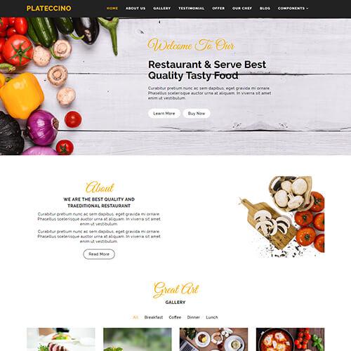 Plateccino – HTML5 Responsive Restaurant Website Templates
