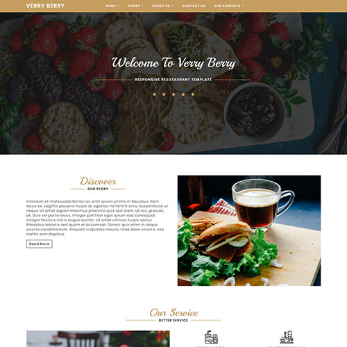 VerryBerry – Food Restaurant Website Templates Free Download