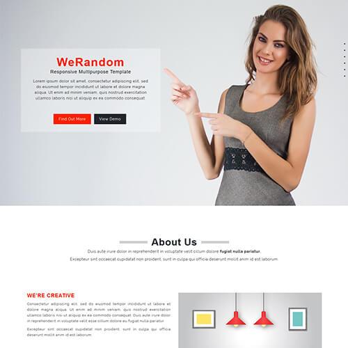 WeRandom – Free Responsive Multipurpose Html5 Template