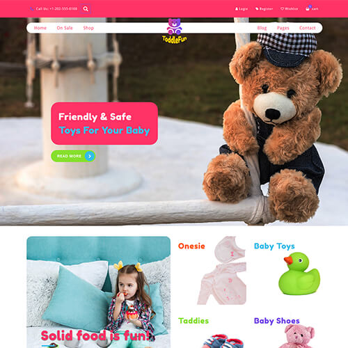 ToddleFun – Responsive HTML5 Toys Website Template