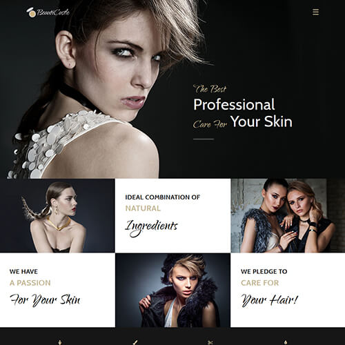 BeautiCastle – HTML5 Beauty Salon Website Design Template