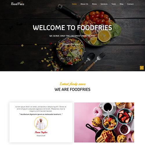 Responsive Restaurant Website Design Templates | ThemeVault