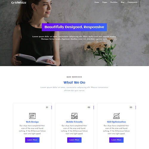 GridWhizz – Multipurpose Responsive Template HTML5