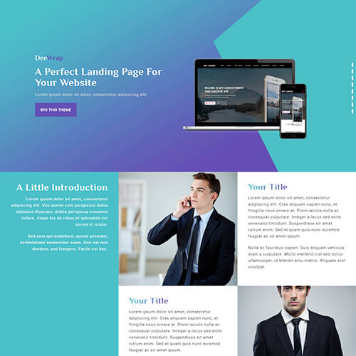 DeeWrap – Resposnsive One page Multipurpose HTML5 Template