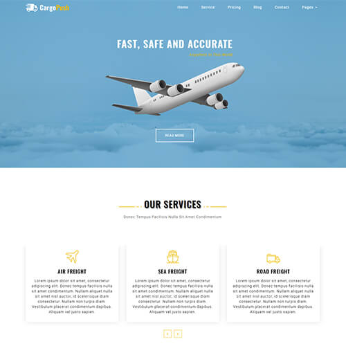 CargoPush – HTML5 Logistics Company Website Template