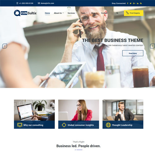 Cunsultix – Responsive Consulting Services Website Template