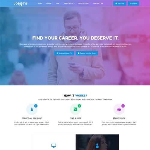 Jobotis – Online Job Portal HTML5 Website Template
