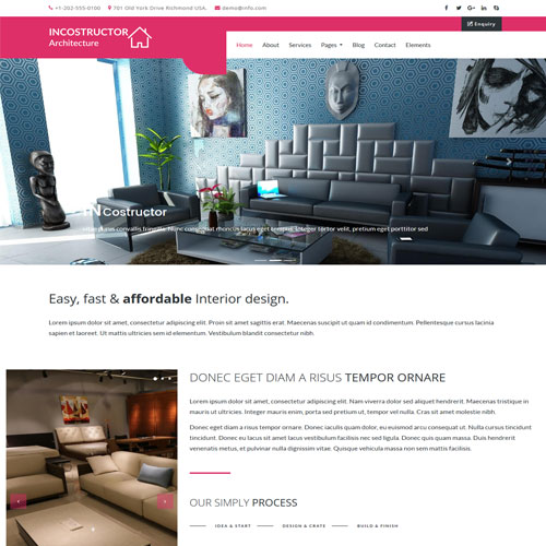 Responsive Interior And Furniture Website Templates Themevault