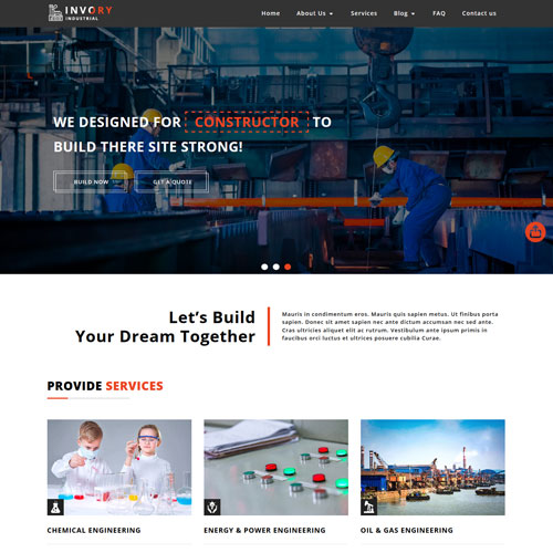 Invory – Responsive Construction Company Web Design Template