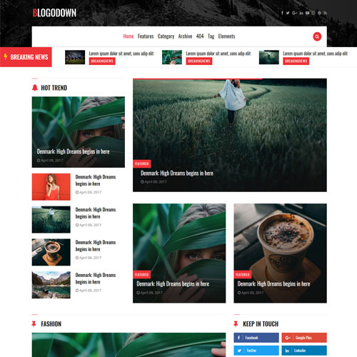 Blogodown – Mobile Friendly Bootstrap Blog Layout Template