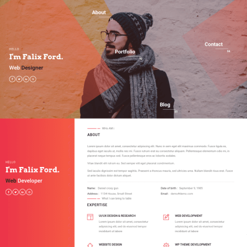 falix ford mobile web developer portfolio website template
