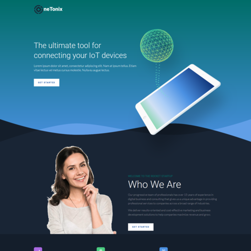 Onetonix – Responsive Landing Page HTML Template
