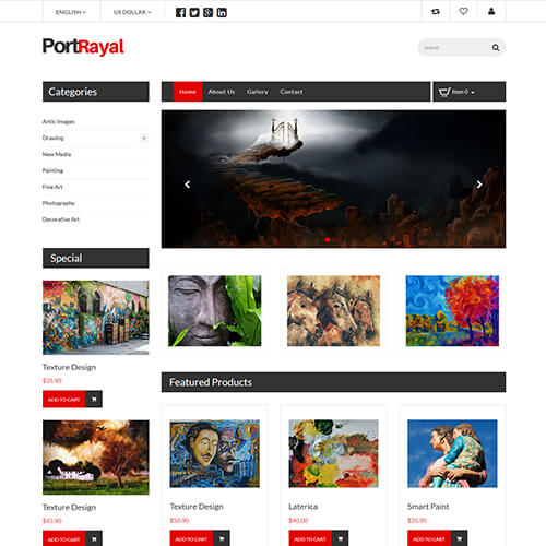 Portrayal- Free Online Art Gallery Website Template