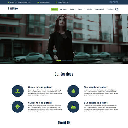 BusiMaxx- Business and Services Website Template