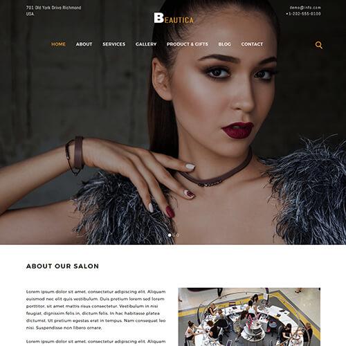 Beautica- HTML Fashion Design Website Template