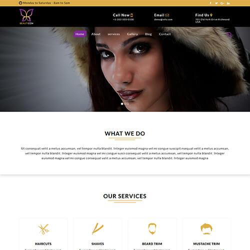 Beauticon – Free HTML5 Fashion Portfolio Website Template