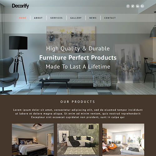Decorify - HTML5 Furniture Store Website Template
