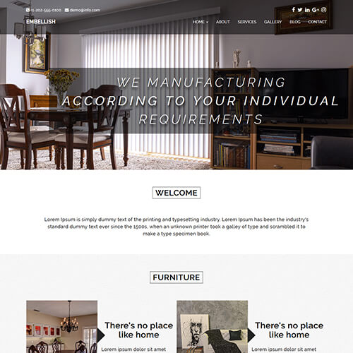 Embellish - Responsive Free Interior Design Website HTML Template