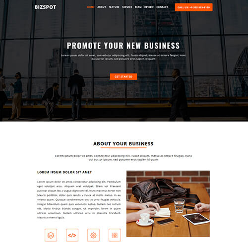 BizSpot- One Page Responsive HTML5 Website Template