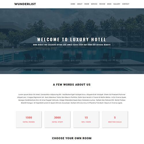 Wunderlist- Onepage Responsive Website Template