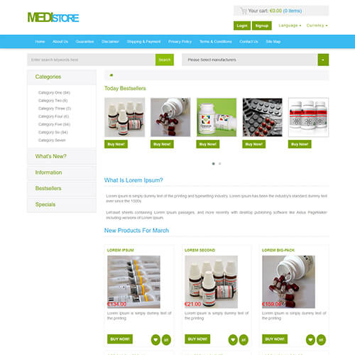 MediStore – HTML Medical and Drug Store Website Template | ThemeVault