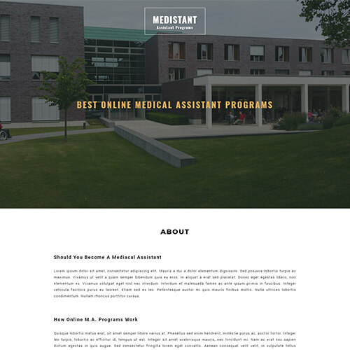 Medistant – HTML5 Responsive Newsletter Website Template