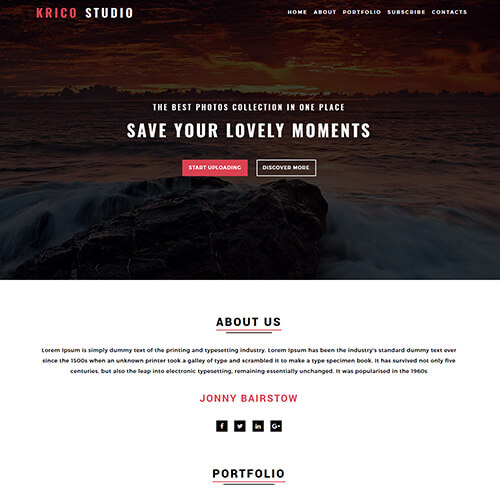 Krico- Free HTML Photo Gallery Website Template