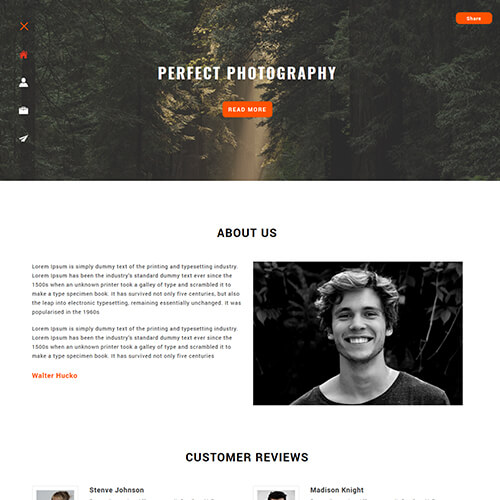Snappy - Responsive Photography Website Design Template
