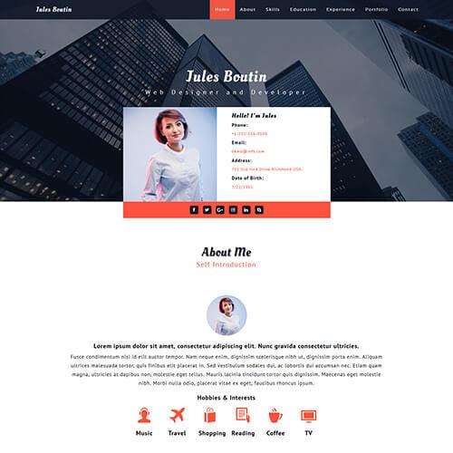 Elitecv - Responsive Portfolio Website Template HTML5