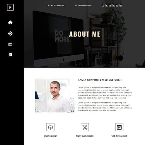 Francisco-Warne – Free Responsive Portfolio Website Template